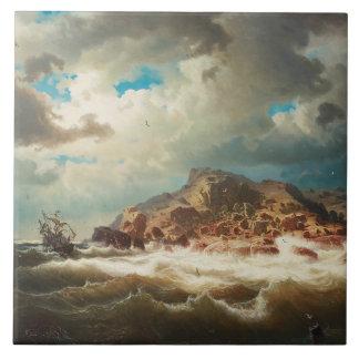 Marcus Larson - frakt vid kusten Kakelplatta