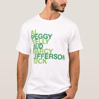 Marcy Jefferson för AlPeggy Kelly knopp bock T-shirts