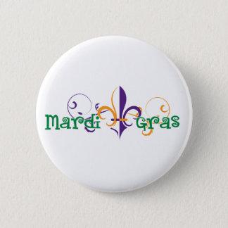Mardi Gras 2011 design 2 Standard Knapp Rund 5.7 Cm