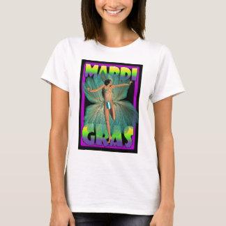 Mardi Gras, dansare i fjädrar Tee Shirt