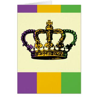 Mardi Gras flaggakrona Hälsningskort
