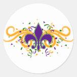 Mardi Gras Fleur-de-Lis klistermärke