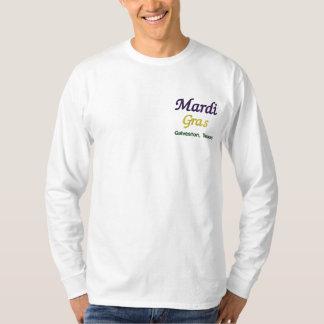 Mardi Gras Galveston Texas Broderad Långärmad T-shirt