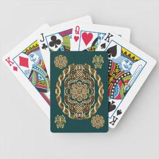 Mardi Gras kort som leker cykeln, läste om design Spelkort