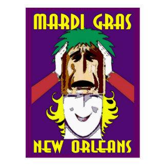 Mardi Gras maskera Vykort