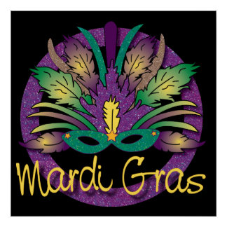 Mardi Gras maskerar affischen Poster