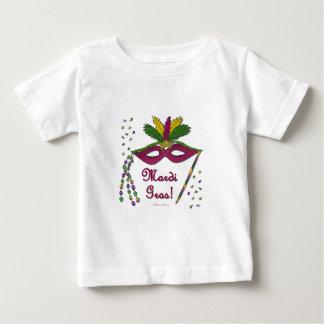 Mardi Gras maskerar fjäderpärlor T-shirts