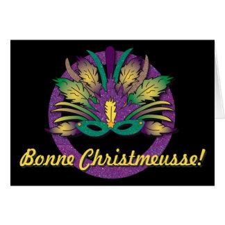 Mardi Gras maskerar jul - Cajun fransk Hälsningskort