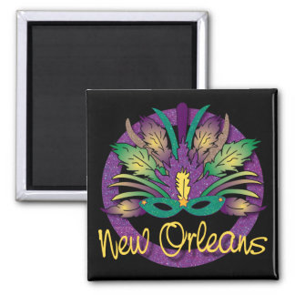Mardi Gras maskerar magneten - New Orleans, LA Magnet