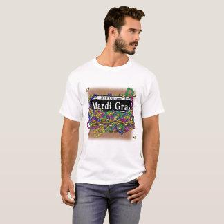 Mardi Gras undertecknar - tshirtguld Tee