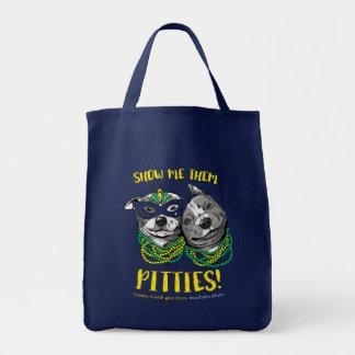 Mardi Gras | visar mig dem Pitties! T-tröja Mat Tygkasse