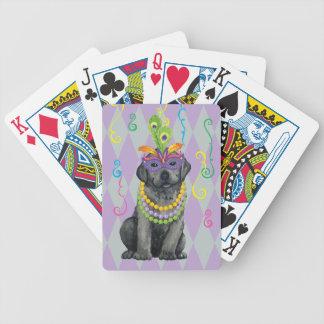 Mardi svart lab Gras Spelkort