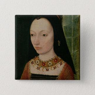 Margaret av den York hertiginnan av Burgundy, c.14 Standard Kanpp Fyrkantig 5.1 Cm