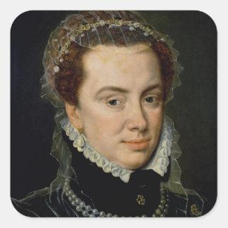 Margaret av Parma, regent av Nederländerna Fyrkantigt Klistermärke