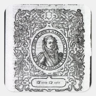 Margaret av Parma, regulator av Nederländerna Fyrkantigt Klistermärke