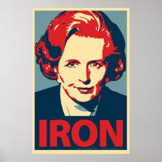 """Margaret Thatcher """"järn"""" affisch"""