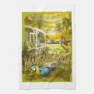 Margaritasång och papegoja på handduken för pubkök kökshandduk