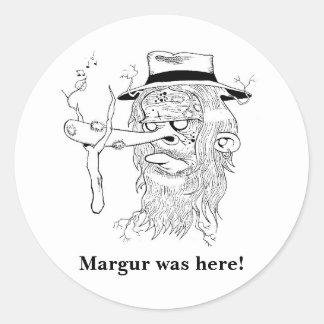 Margfolket Margur klistermärkear Runt Klistermärke