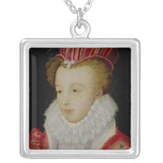 Marguerite de Valois c.1572 Silverpläterat Halsband