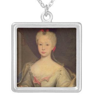 Maria Barbara de Braganza Göra till drottning av S Silverpläterat Halsband