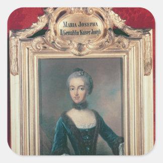 Maria Josepha av Bayern understöder frun av Joseph Fyrkantigt Klistermärke