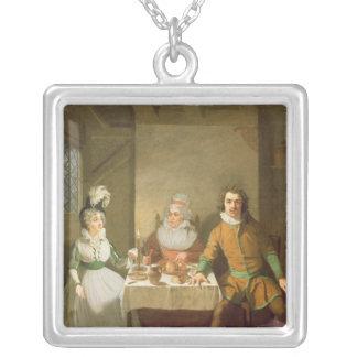 Maria som är förbindlig som Josephine Silverpläterat Halsband