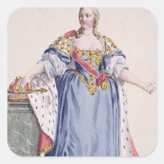 Maria Theresa (1717-80) Empress av Österrike, från Fyrkantigt Klistermärke
