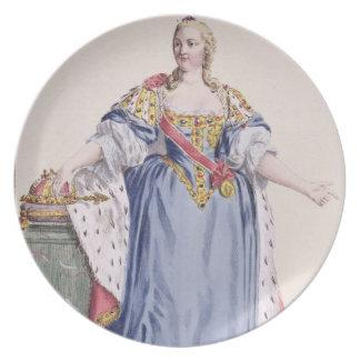Maria Theresa (1717-80) Empress av Österrike, från Tallrik