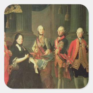Maria Theresa av Österrike med fyra av henne Fyrkantigt Klistermärke