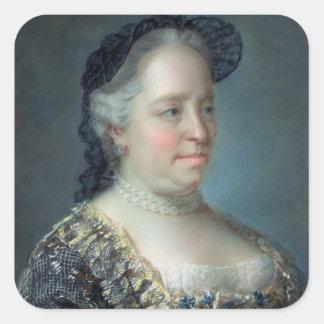 Maria Theresa, Empress av Österrike, 1762 Fyrkantigt Klistermärke
