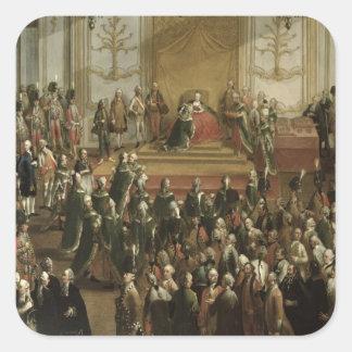 Maria Theresa Fyrkantigt Klistermärke