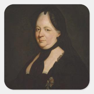 Maria Theresa i sorg Fyrkantigt Klistermärke