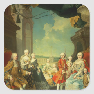 Maria Theresa och henne make Fyrkantigt Klistermärke