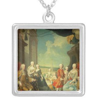 Maria Theresa och henne make Silverpläterat Halsband