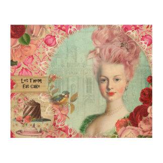 """Marie Antoinette, 10"""""""" Wood konst för vägg x8 Trätavla"""
