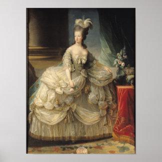 Marie Antoinette drottning av frankriken, 1779 Poster