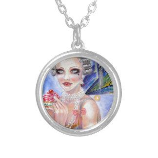 Marie Antoinette - drottning av muffins Silverpläterat Halsband