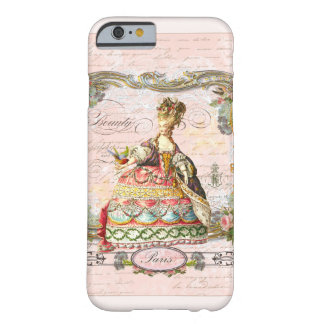Marie Antoinette i rosor Barely There iPhone 6 Fodral
