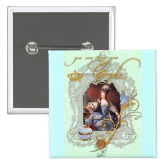 Marie Antoinette muffin och blåsångare Standard Kanpp Fyrkantig 5.1 Cm