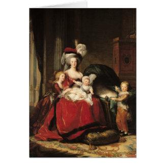 Marie-Antoinette och henne barn, 1787 Hälsningskort