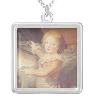 Marie-Antoinette och henne barn Silverpläterat Halsband