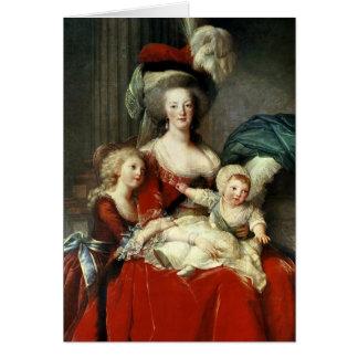 Marie-Antoinette och henne fyra barn, 1787 Hälsningskort