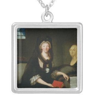 Marie-Antoinette på Conciergerien Silverpläterat Halsband