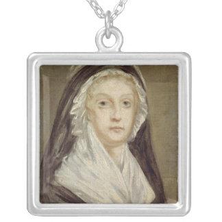Marie Antoinette på Conciergerien Silverpläterat Halsband