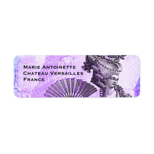 Marie Antoinette & Versailles slott i lilor Returadress Etikett