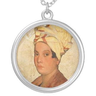 Marie Laveau Silverpläterat Halsband