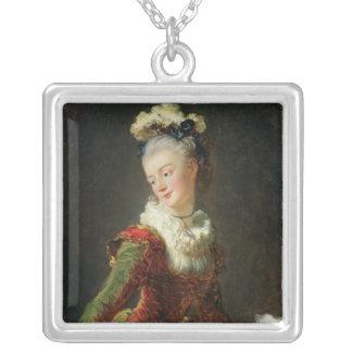 Marie-Madeleine Guimard Silverpläterat Halsband
