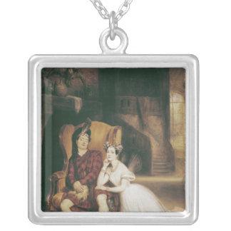 Marie och Paul Taglioni La Sylphide för baletten ' Silverpläterat Halsband