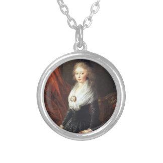 Marie Therese av frankrikehalsbandet Silverpläterat Halsband