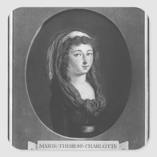 Marie-Therese-Charlotte de Frankrike, ålder 17 Fyrkantigt Klistermärke
